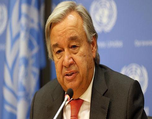 """غوتيريش لمجلس الأمن: إعلان النظام السوري بشأن """"الكيماوي"""" ليس دقيقا"""