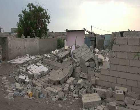 قصف حوثي بالحديدة يدمر منازل ويشرد أصحابها .. بالفيديو