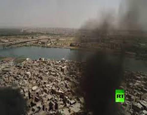 حجم الدمار في الموصل القديمة من الأعلى