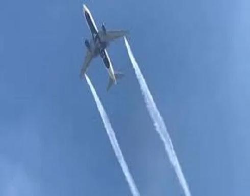 بالفيديو.. طائرة أمريكية تقوم بتفريغ الوقود فوق مدرسة ابتدائية وتتسبب في كارثة