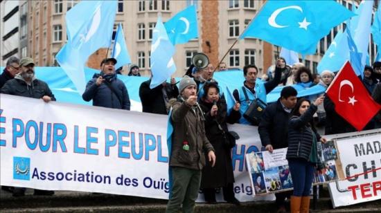 وقفة في بروكسل ضد الاضطهاد الصيني بتركستان الشرقية