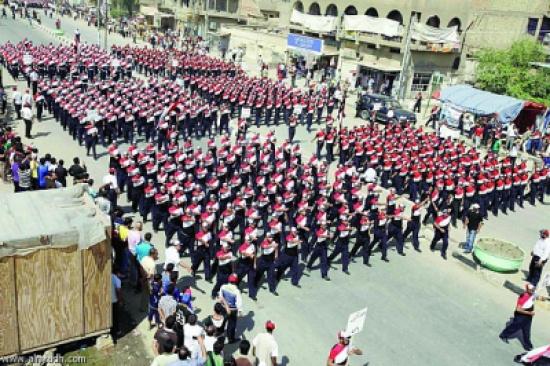 استعراضات سرايا السلام التابعة لمقتدى الصدر إعلامية لتهدئة الشيعة