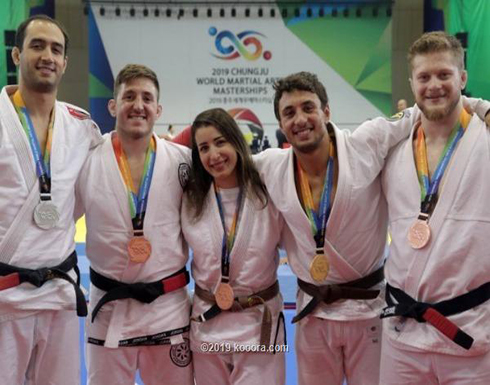 5 ميداليات أردنية في الألعاب العالمية للجوجيتسو