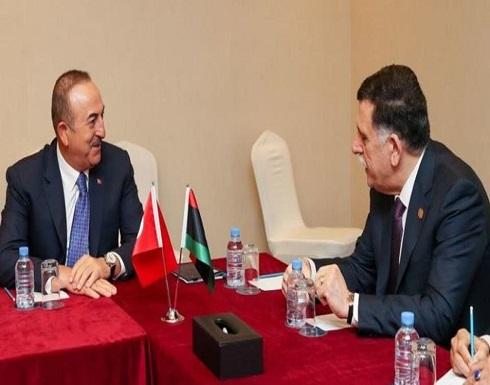 أول ظهور لتبون بأزمة ليبيا.. السراج وأوغلو إلى الجزائر