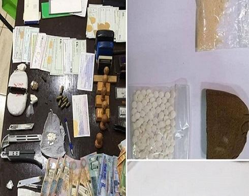 صور : ضبط ٢٣ متورطا بقضايا مخدرات