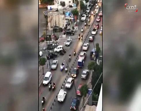 شاهد : دراجات نارية تشارك في مظاهرات في لبنان