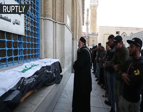 شاهد : تشييع ضحايا التفجير المزدوج في بغداد