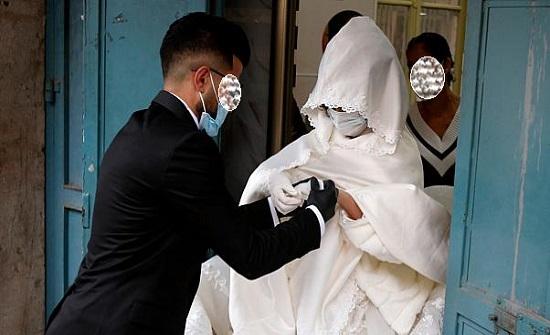 اصابة عروسين بفيروس كورونا في الاردن