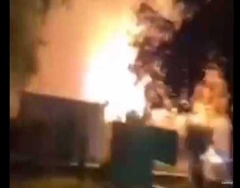 لحظة انفجار أسطوانات الأوكسجين بمستشفى ابن الخطيب .. بالفيديو
