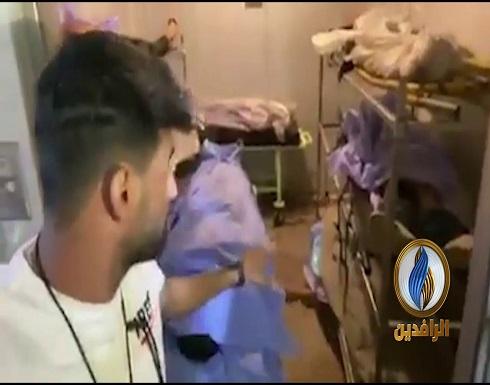 تلاجة الموتى في كربلاء تكتض بجثث المتظاهرين - فيديو