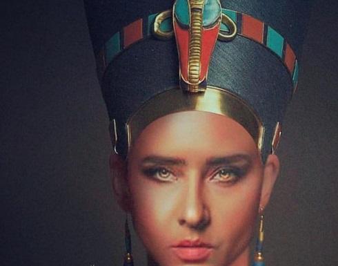 بالفيديو والصور : بعد كيلوبترا سما المصرى.. نيللى كريم تتحول الى نفرتيتى