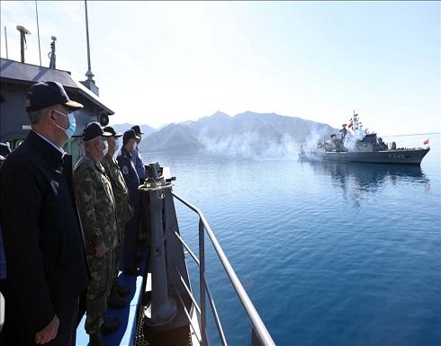 """تركيا.. وزير الدفاع وقادة الجيش يتابعون مناورات """"ذئب البحر 2021"""""""