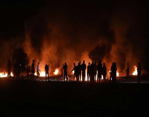 لليوم الثاني.. مظاهرة ليلية على حدود غزة رفضا للحصار