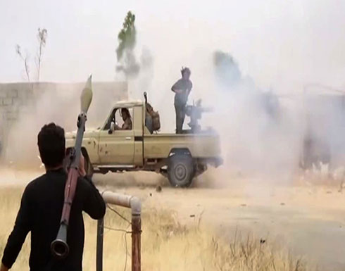 شاهد : معارك عنيفة في محاور القتال بالعاصمة طرابلس