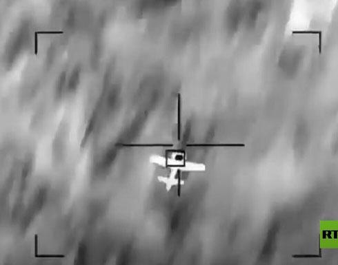شاهد : لحظة تدمير طائرة مفخخة أطلقها الحوثيون
