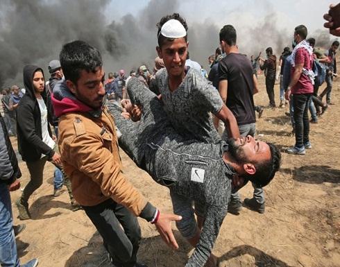 """إصابات في مسيرة العودة بجمعة """"الشباب الثائر"""" بغزة (شاهد)"""
