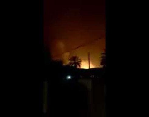لحظة سقوط صواريخ الكاتيوشا على المنطقة الخضراء