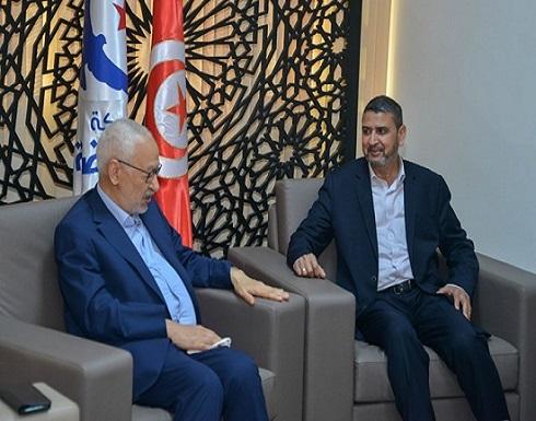 الغنوشي يستقبل وفدا من حماس ويؤكد دعمه لفلسطين