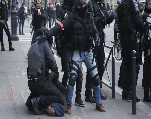 الشرطة الفرنسية تحتجز أكثر من 20 محتجا في باريس