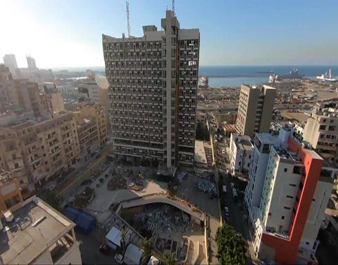 شاهد : لقطات غير مسبوقة من طائرة مسيرة توثق حجم الدمار في بيروت