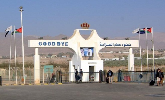 حركة السفر والشحن عبر جسر الملك حسين