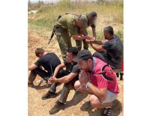 الجيش الاسرائيلي ينشر صورة للمتسللين من الاردن