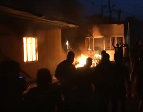 فيديو.. لقطات حرق القنصلية الإيرانية في البصرة