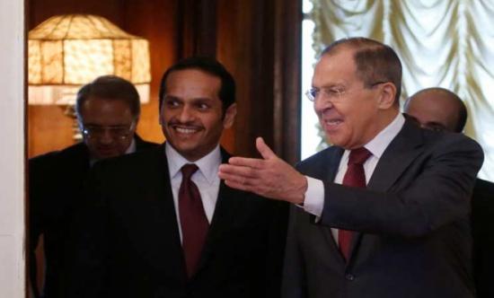 لافروف: روسيا مهتمة بمناقشة جهود تسوية الأزمة السورية مع قطر