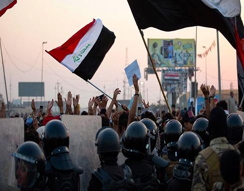 شاهد : صدامات بين قوات الأمن العراقي والمتظاهرين في البصرة