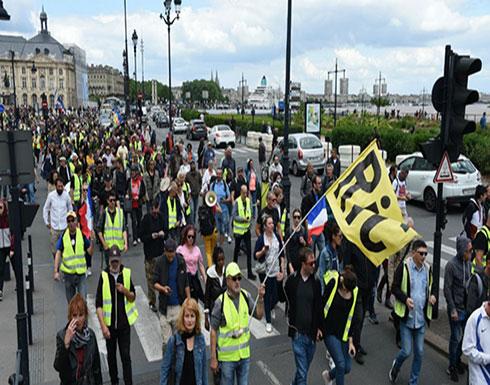 """فرنسا: نواة صلبة من محتجي """"السترات الصفراء"""" تواصل التظاهر..(فيديو)"""