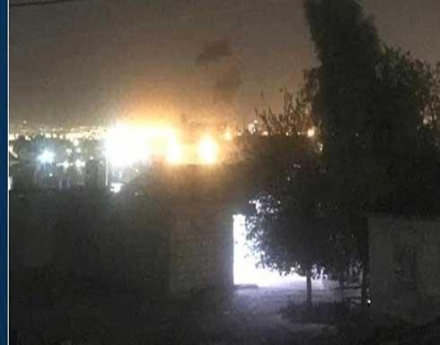 قصف صاروخي على قاعدة التحالف في مطار أربيل .. بالفيديو