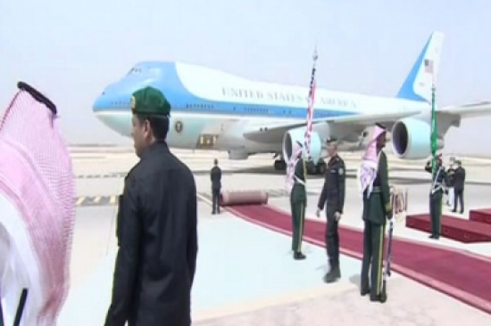 ترمب يصل الرياض في أول زيارة خارجية له