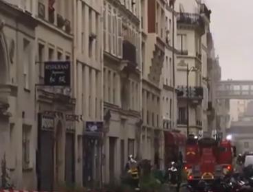 شاهد ..  انفجار مخبز في باريس