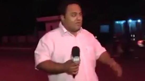 بالفيديو: مراسل توقّع حصول حادث سير قبل ثوانٍ من حدوثه!