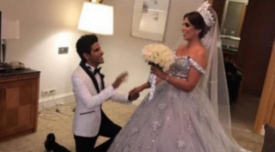 الصور الأولى من زفاف حمدي الميرغني وإسراء عبد الفتاح
