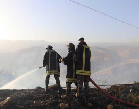 شاهد : الدفاع المدني يخمد حريق كبير في جرش