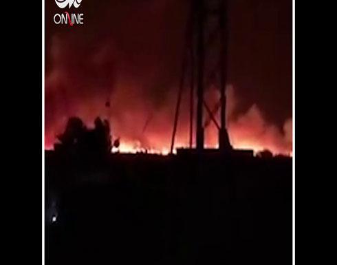 شاهد : حرائق كبيرة تندلع في مناطق متفرق من مدينة الموصل