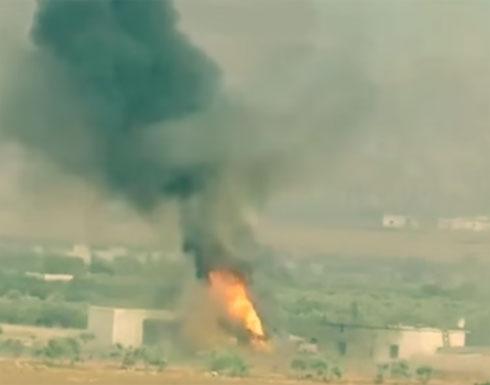 بالفيديو: تدمير دبابة وآلية عسكرية ثقيلة لقوات النظام بريف حلب