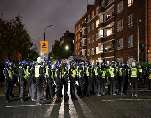 """شاهد : إصابة شرطيين خلال فض أحد """"حفلات كورونا"""" في العاصمة لندن"""
