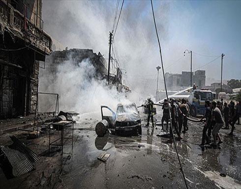 """بالفيديو : مقتل 10 مدنيين في غارات للنظام السوري على """"إدلب"""""""