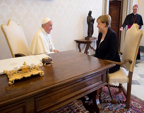 """البابا يدعو ميركل لمواصلة الضغط بشأن """"المناخ"""""""