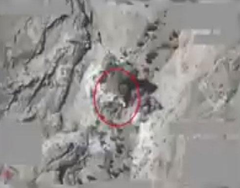 التحالف: تدمير منصة إطلاق صواريخ لميليشيا الحوثي بصعدة (فيديو)