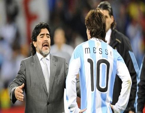 ميسي يكرم مارادونا على طريقته .. بالفيديو والصور