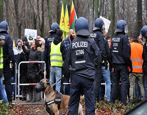 """الشرطة الألمانية تفرق مظاهرة لأنصار""""ب ي د/ بي كا كا"""""""