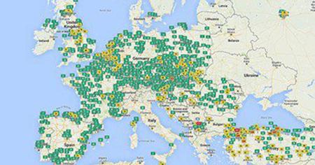 بالصور : خريطة تفاعلية تظهر مدى تلوث الهواء من حولك