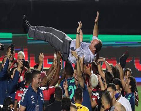 رغم الخسارة فلامنغو يحرز لقب الدوري البرازيلي .. فيديو