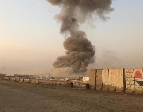 """انفجار يهز """"معسكر الصقر"""" بمنطقة الدورة جنوبي بغداد .. بالفيديو"""
