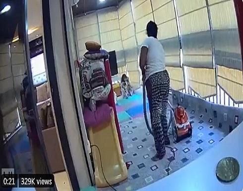عاملة منزلية شجاعة تنقذ طفلة من الموت بانفجار بيروت.. شاهدوا كيف حمتها