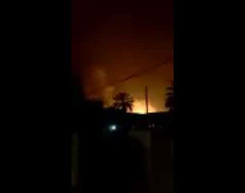 فيديو : سقوط وابل من القذائف على المنطقة الخضراء في بغداد