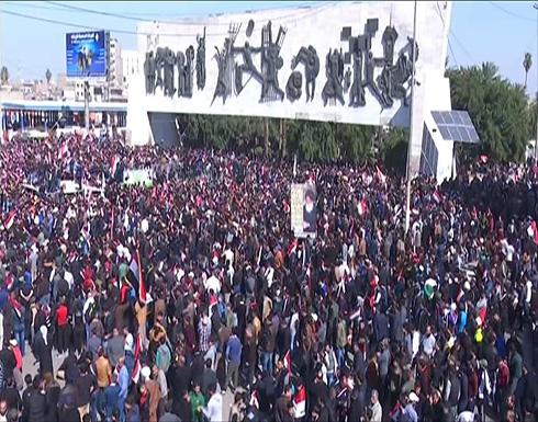 ضحايا خلال فض مظاهرات واسعة في بغداد